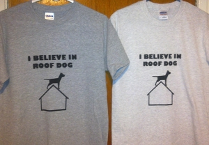 roof dog t-shirts
